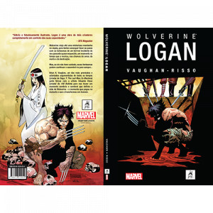 Capa e contracapa do livro Wolverine: Logan, de Vaughan e Risso. G Gloy Editora. Marvel