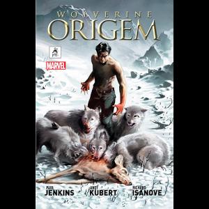 Capa do livro Wolverine Origem, de Paul Jenkins, Andy Kubert e Richard Isanove. G. Gloy Editora. Marvel