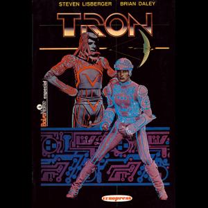 Capa do livro Tron, de Steven Lisberger e Brian Daley. Europress Editora, colecção BolsoNoite Especial