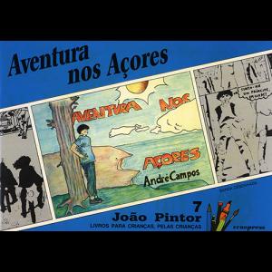 Capa do livro Aventura nos Açores, colecção João Pintor. Europress