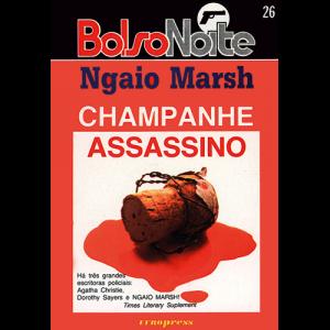 Capa do livro Champanhe Assassino, de Ngaio Marsh. Europress Editora, coleção BolsoNoite