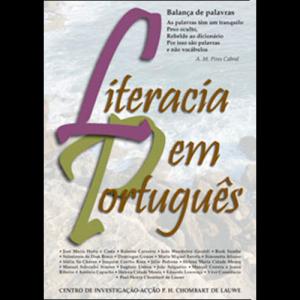 Capa do livro Literacia em Português. Acontecimento Editora