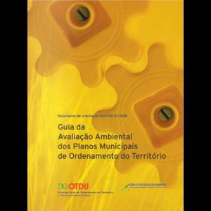 Capa do livro Guia da Avaliação Ambiental dos Planos Municipais de Ordenamento do Território. DGOTDU