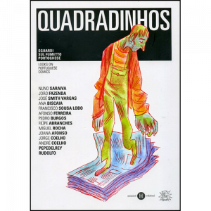 Capa do livro Quadradinhos - Looks on Portuguese Comics. Chili com Carne
