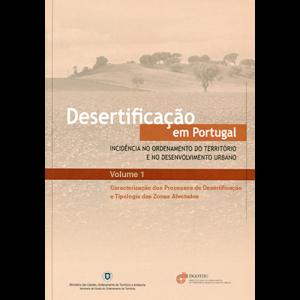Capa do livro Desertificação em Portugal - Incidência no Ordenamento do Território e no Desenvolvimento Urbano. DGOTDU