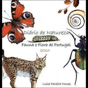 Capa do livro Diário de Natureza - Fauna e Flora de Portugal 2010, de Luísa Ferreira Nunes. Europress Editora