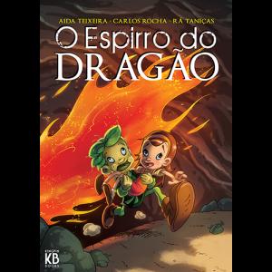 Capa do livro O Espirro do Dragão, de Aida Teixeira, Carlos Rocha e Rá Taniças. Kingpin Books