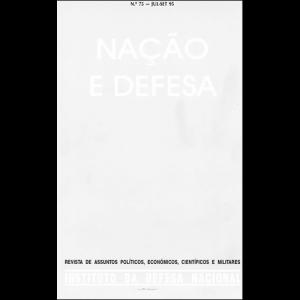 Capa da revista Nação & Defesa nº75. Instituto da Defesa Nacional