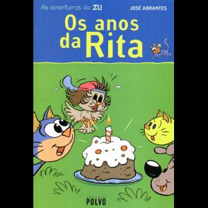 Capa do livro As Aventuras da Zu - Os Anos da Rita, de José Abrantes. Edições Polvo