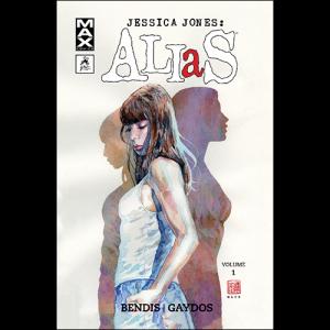 Capa do livro Jessica Jones: Alias, de Brian Michael Bendis e Michael Gaydos. G. Floy Editora