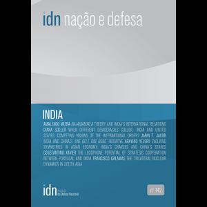Capa da revista Nação & Defesa nº142 - India. Instituto da Defesa Nacional