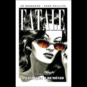 Capa do livro Fatale, Vol. 5: Amaldiçoa o Demónio, de Ed Brubaker e Sean Phillips. G. Floy Studio